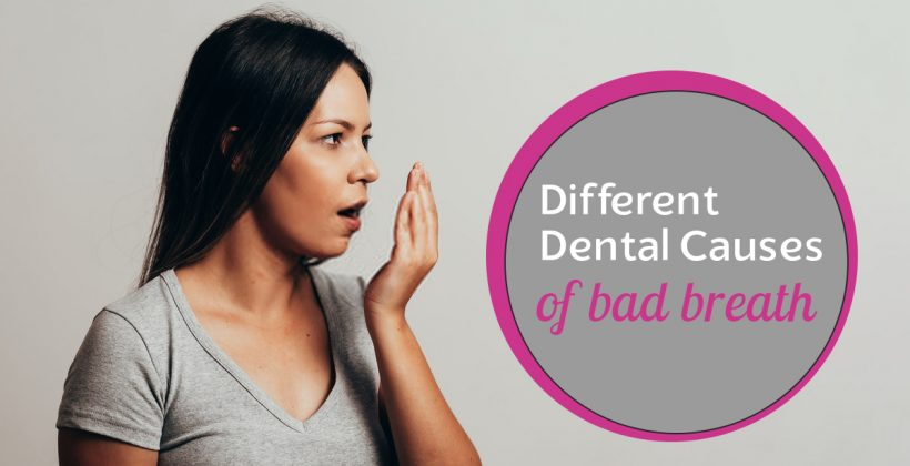 Different dental causes of bad breath