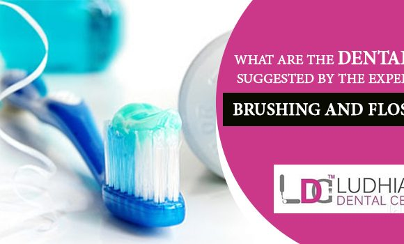 What are the dental tips suggested by the experts for brushing and flossing?