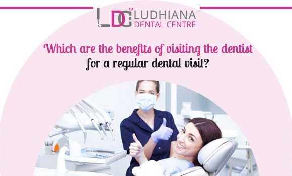 Which are the benefits of visiting the dentist for a regular dental visit?